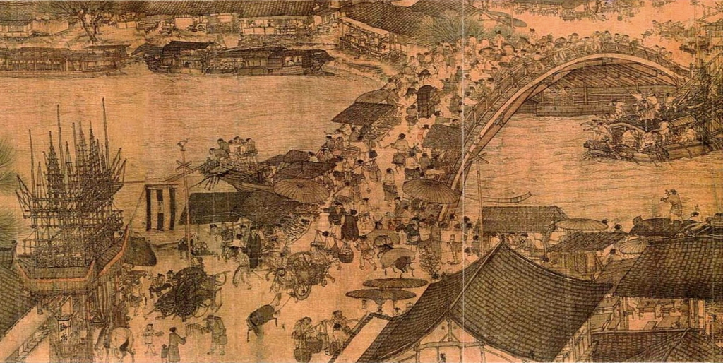 《清明上河图》描绘的就是当时盛世清明图景